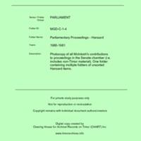 MGD Hansard 1980-1981