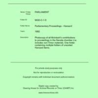 MGD Hansard 1982