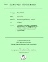 MGD Hansard 1974-1975