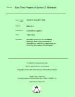 Committee Logistics [MGD E3]