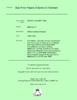 Official Hansard Record [MGD E4]