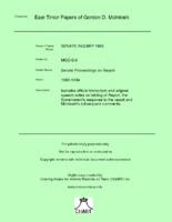 Senate Proceedings on Report [MGD E6]