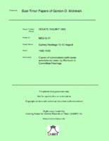 Sydney Hearings 10-12 August [MGD E17]