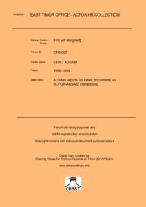 EAST TIMOR 1999 – AusAid